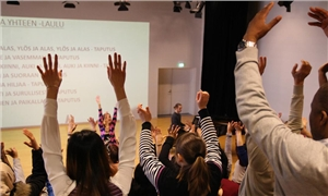 Link to event Learn Finnish by Singing Choir – Learn Finnish by Singing - a new international choir at the Culture Centre Stoa